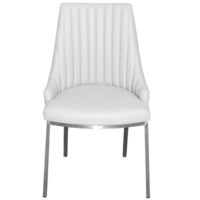 Monroe Side Chair Upholstery: White
