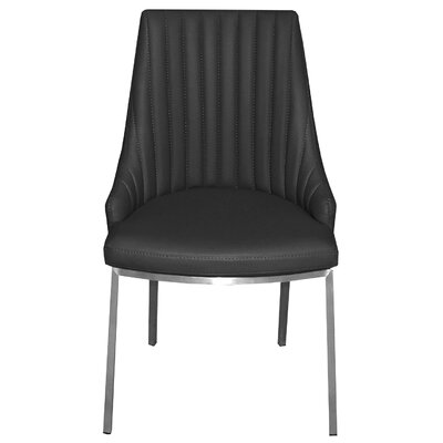 Monroe Side Chair Upholstery: Black
