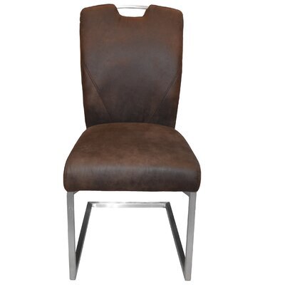 Lynx Side Chair Upholstery: Dark Brown