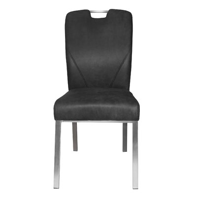 Lynx Side Chair Upholstery: Dark Gray