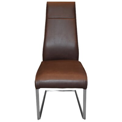 Kassandra Side Chair Upholstery: Dark Brown