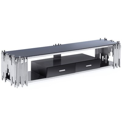 Mauris 80 TV Stand Color: Polished Silver