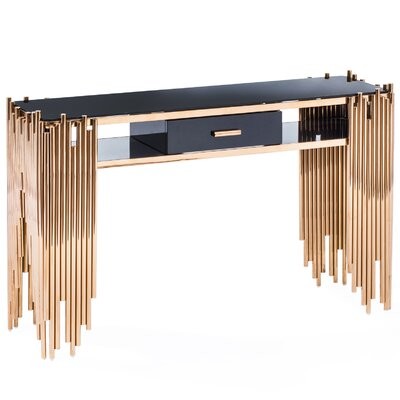 Mauris Console Table Finish: Rose Gold