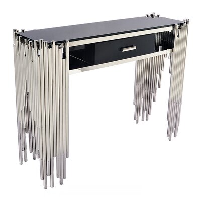 Mauris Console Table Finish: Polished Silver