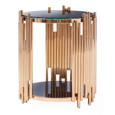 Mauris Round End Table Color: Rose Gold