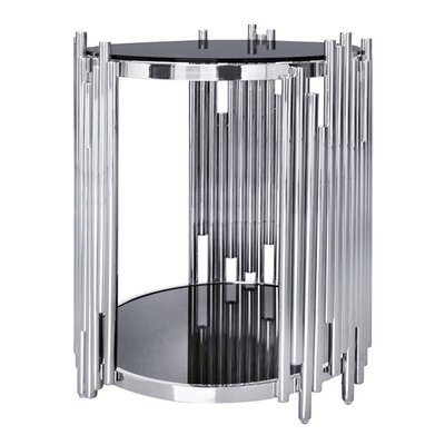 Mauris Round End Table Color: Polished Silver