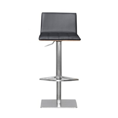 Folia Adjustable Height Swivel Bar Stool Upholstery: Black
