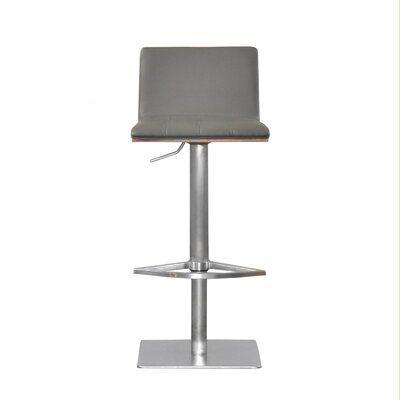 Folia Adjustable Height Swivel Bar Stool Upholstery: Gray