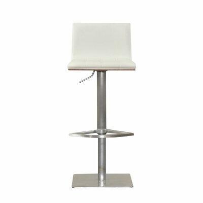 Folia Adjustable Height Swivel Bar Stool Upholstery: White