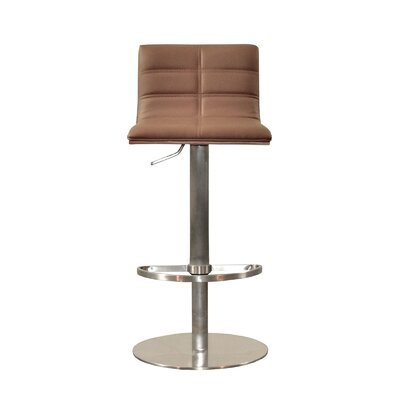 Sydney Adjustable Height Swivel Bar Stool Upholstery: Taupe
