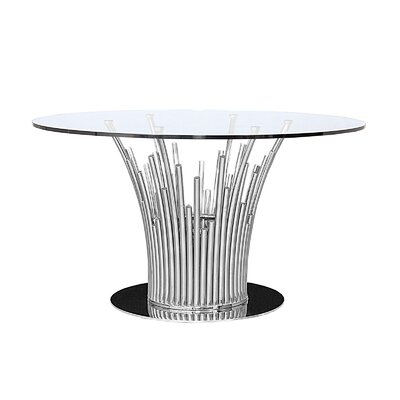 Mauris Dining Table Base Finish: Polished Silver