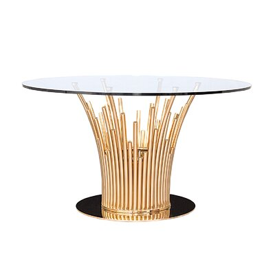 Mauris Dining Table Base Finish: Rose Gold