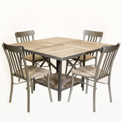 Fourz Dining Table Base Color: Brown, Top Color: Gray