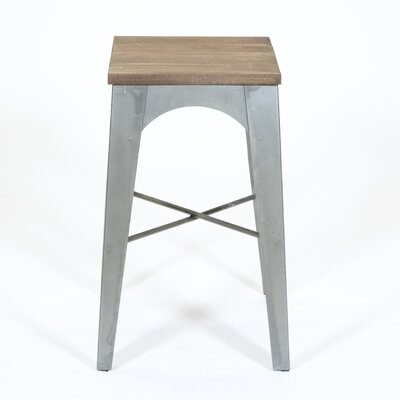 Industrial Bar Stool Finish: Gray
