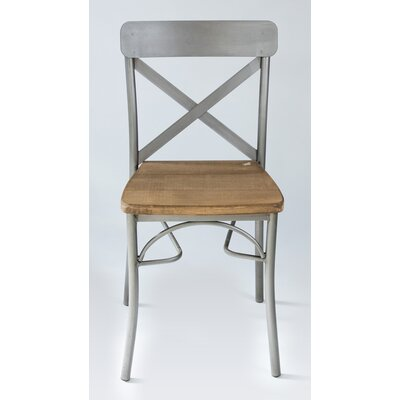 Solid Wood Dining Chair Color: Gray