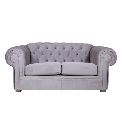 Alexa II Chesterfield Loveseat Color: Simplicity Gray