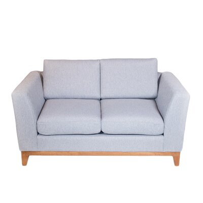 Roberta II Loveseat Color: Slate Gray