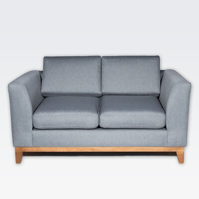 Roberta II Loveseat Color: Derby  Gray
