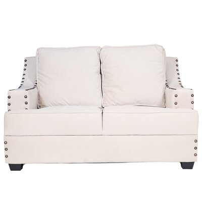 Modena I Loveseat Color: Simplicity Cream