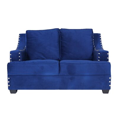 Modena I Loveseat Color: Indigo