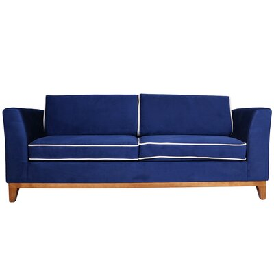 Roberta III Sofa Color: Indigo