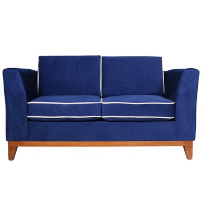 Roberta III Loveseat Color: Indigo