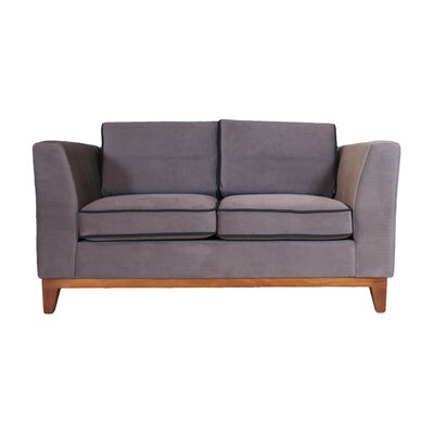 Roberta III Loveseat Color: Dark Gray