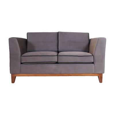 Roberta III Loveseat Upholstery: Dark Gray