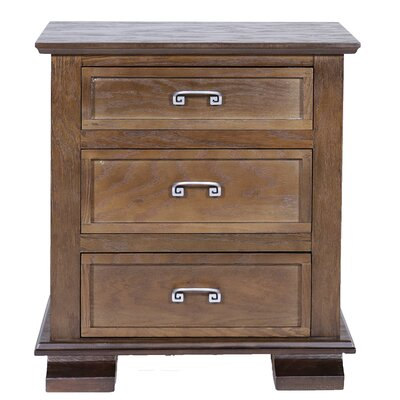 Cavali 3 Drawer Nightstand Color: Tobacco