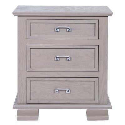 Cavali 3 Drawer Nightstand Color: Taupe