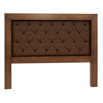 Mandir King Upholstered Panel Headboard Finish: Espresso