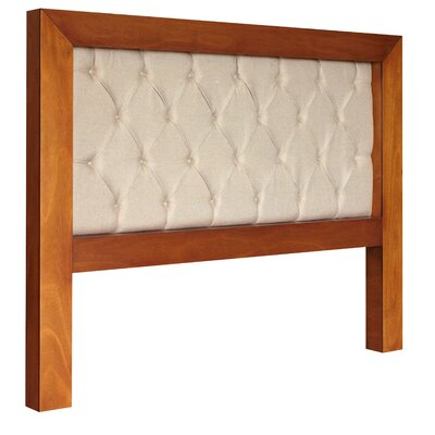 Mandir King Upholstered Panel Headboard Color: Cinnamon