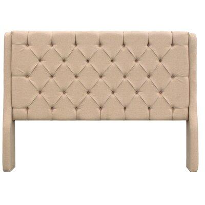 Solar Queen Upholstered Panel Headboard Upholstery: Beige