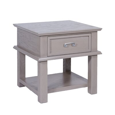 Cavalli End Table Color: Rustic Gray