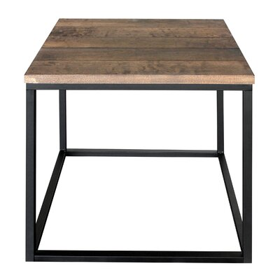 Side Cubic Vintage End Table Color: Brown/Black
