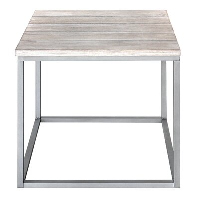 Side Cubic Vintage End Table Finish: Vintage White/Gray