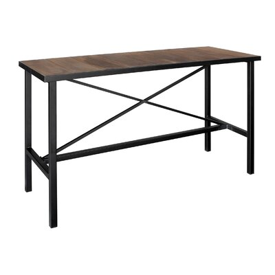 Vintage Pub Table Color: Brown/Black