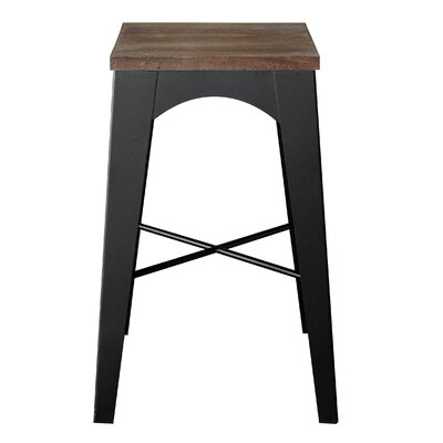 Industrial Bar Stool Finish: Vintage White