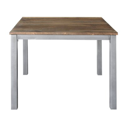 Square Dining Table Top Finish: Brown