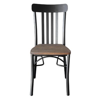 Rusol Solid Wood Dining Chair Finish: Brown/Black