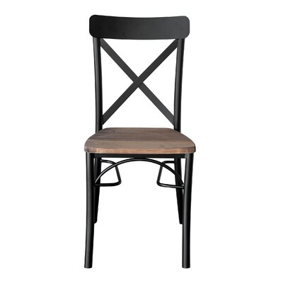 Solid Wood Dining Chair Color: Brown/Black