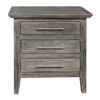 Aneres 3 Drawer Nightstand
