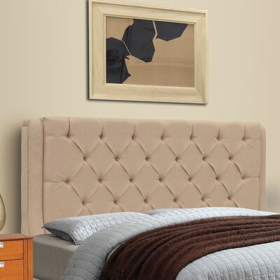 Solar King Upholstered Panel Headboard Upholstery: Beige