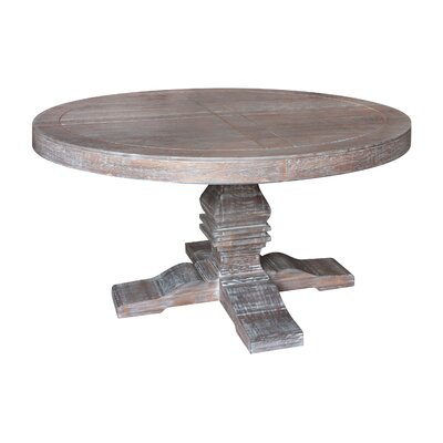 Pinzon Round Dining Table Finish: Rustic Gray