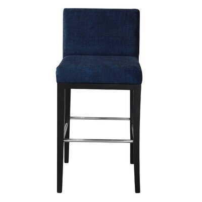 Bureen 31 Bar Stool Upholstery: Venetto Navy