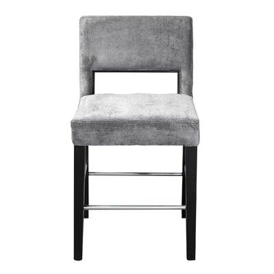 Bureen Counter Height Bar Stool Upholstery: Treviso Steel