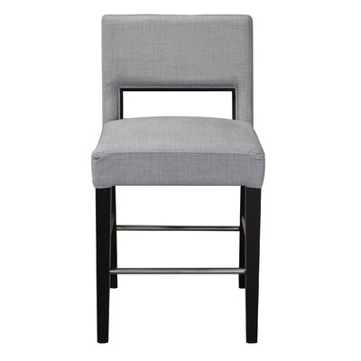 Bureen Counter Height Bar Stool Upholstery: Graphite Charm