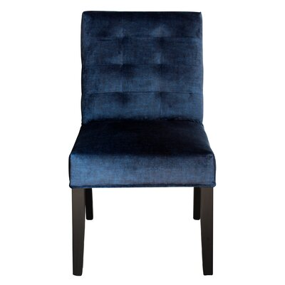 Bureen Upholstered Dining Chair Upholstery Color: Venetto Navy