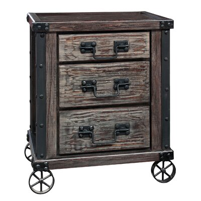 Milam 3 Drawer Nightstand