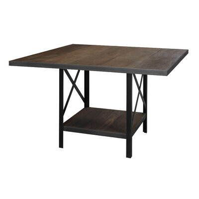 Fourz Dining Table Base Color: Black, Top Color: Black